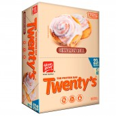 barra de cereal your goal twenty´s cinnamon roll 23g de proteína (display 12 unds,  60 gr c/u)