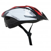 casco vision  w118 rojo blanco adult unisize regulable bicyc