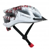 casco vision  w958 blanco con grafica adult  unisize regulab