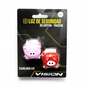 set luces luz led flash silicona delantera y trasera cr 2032 cer