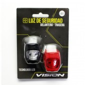 set luces luz led flash silicona delantera y trasera cr 2032 bs-