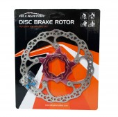 rotor disco alligator hk-r34 160mm 6-pernos rojo