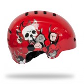 casco lazer street skull red (l) ms01