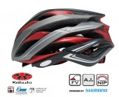 casco  kabuto  wg-1 (xl/xxl) matt black red