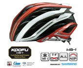 casco kabuto wg-1 (l) red white ms01