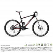 "bici.merida ninety nine carbon 3000  aro 26"" matt ud carbon (red) 16"""