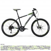 "bici.merida matts 300 aro 26"" met. black(white/green) 18"""