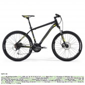 "bici.merida matts 100 aro 26"" silk black(grey/neon yellow) 16"""