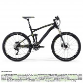 "bici.merida one-twenty 3000 aro 26"" silk black (grey/yellow) 20"""