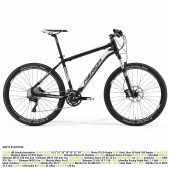 "merida matts xt edition aro 26"" silk black(white/silver) talla 18"""