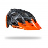 casco lazer ultrax+ matte black camo flash orange (l) blu21