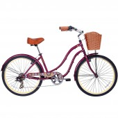 "bicicleta gama 26"" cruiser women marsala gm2635mar"