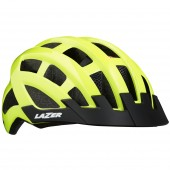 casco lazer compact dlx + insectnet + led - flash yellow unisize /ce-cpsc