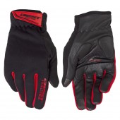 guantes best dedos largos talla xl gel active negro / rojo