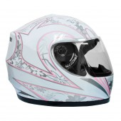 casco moto mmg dot (l) white 361 ky ?b15 ms01