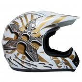 casco moto mmg dot (m) white 621 ky-128 ms01