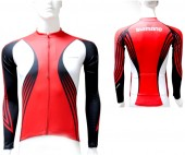 jersey print long shimano true red/white (s)