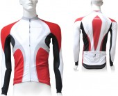 jersey shimano accu3d race limited ls red/white (m)