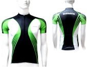 jersey print short shimano flash green/white (s) jersey sh