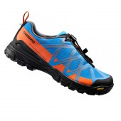 zapatilla shimano sh-mt54b (47) blue/orange l20 ms01