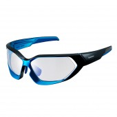 lente shimano 2018 black - metallic blue / blue photochromic clear hydrophobic