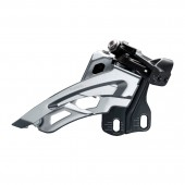 cambiador shimano fd-m6000-e, deore, for 3x10, side swing, front-pull, e-type(w/ o bb plate), cs-ang